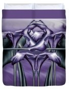 Dance Of The Purple Calla Lilies V Duvet Cover