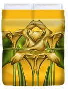 Dance Of The Yellow Calla Lilies II Duvet Cover