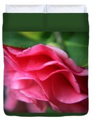 Dancing Petals Of The Camellia Duvet Cover by Enzie Shahmiri