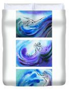 Dancing Water V Duvet Cover