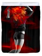 Dancing With My Hair On Fire Duvet Cover