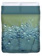 Dandelion Drops In Blue Duvet Cover