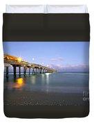 Dania Beach Pier Duvet Cover