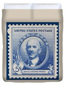 Daniel Chester French Postage Stamp Duvet Cover