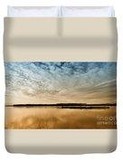 Danube River-sunset Duvet Cover