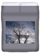 Dark And Stromy Night Trees Duvet Cover