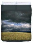 Dark Clouds Gather Over A Prairie Duvet Cover
