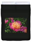 Dark Pink Peony Flower Series 3 Duvet Cover