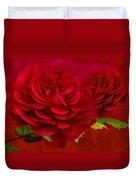 Dark Pink Rose Duvet Cover