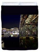 Darling Harbor At Night Duvet Cover