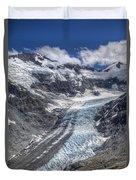 Dart Glacier Above Cascade Saddle Mount Duvet Cover