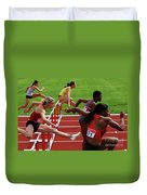 Dash To The Finish Duvet Cover