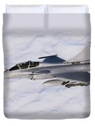 Dassault Rafale B Of The French Air Duvet Cover