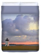 Dawn At Long Point Lighthouse Duvet Cover
