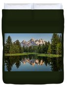 Dawn At Schwabacher Landing Duvet Cover