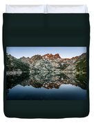 Dawn At Upper Sardine Lake Duvet Cover