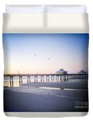 Dawn Breaking Vanilla Pop Duvet Cover
