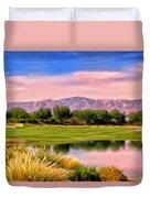 Dawn On The Golf Course Duvet Cover