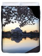 Dawn Over Jefferson Memorial Duvet Cover