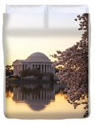 Dawn Over The Jefferson Memorial Duvet Cover