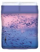Dawn Sky Reflected In Pool Duvet Cover