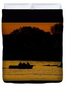 Day Of Fishing Is Over Duvet Cover