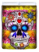 Day Of The Dead - Death Mask Duvet Cover