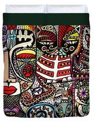 Day Of The Dead Cats Duvet Cover