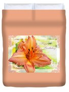 Daylily Greeting Card Birthday Duvet Cover