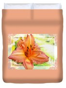 Daylily Greeting Dard Blank Duvet Cover