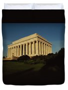 Daytime View Of The Lincoln Memorial Duvet Cover