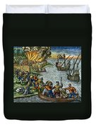 De Bry: Chicora, 1590 Duvet Cover