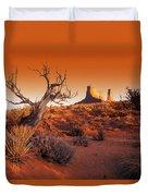 Dead Tree In Desert Monument Valley Duvet Cover