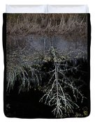 Dead Tree Reflects In Black Water Duvet Cover