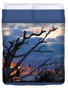 Dead Trees At Sunrise Duvet Cover