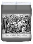 Death Of Garfield, 1881 Duvet Cover by Photo Researchers