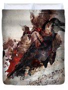 Death Of The  Song Bird Duvet Cover