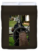 Death Steers The Ship Duvet Cover