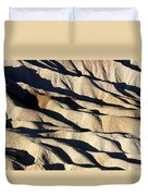 Death Valley Erosion Duvet Cover