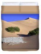 Death Valley Salt Flat Duvet Cover