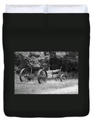 Decaying Wagon Black And White Duvet Cover