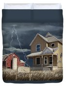 Decline Of The Small Farm Number 6 Version 2 Duvet Cover