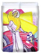 Deco Lady With Auto Duvet Cover