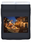 Decorated Fishing Boats Duvet Cover