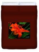 Deep Orange Day Lily Duvet Cover