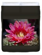 Deep Pink Cactus Flower Duvet Cover
