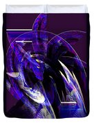 Deep Purple Abstract Duvet Cover