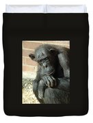 Gorilla Deep Thoughts Duvet Cover