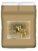 Deer Duo Duvet Cover
