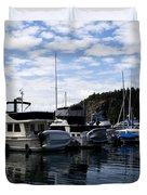 Deer Harbor Blues Duvet Cover